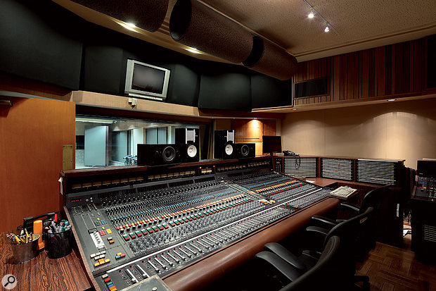 The control room in Sunset Sound Studio 1, with its custom API/Di Medio desk.