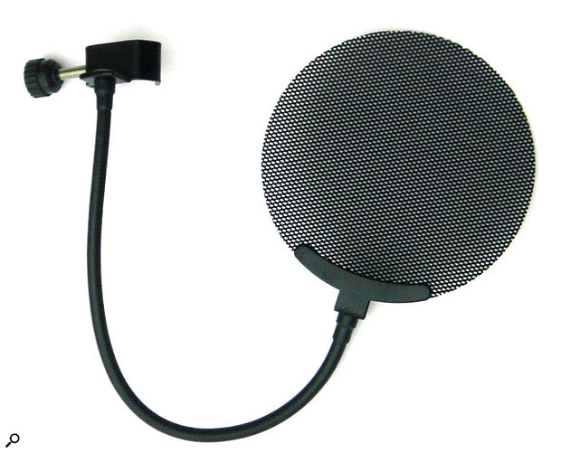 Nylon-mesh pop shields can cause a slight dulling of the sound at high frequencies, but metal-mesh designs such as this one don't suffer as much.