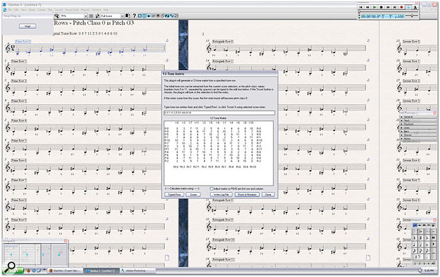 '12-Tone Matrix' is a new plug-in for generating all possible rows of a given tone row, useful for those writing or studying serial composition. Guess the piece, anyone?