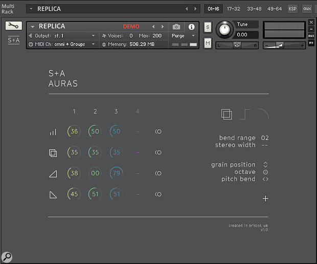 Working with Layers: the main Auras editing/mixing window.