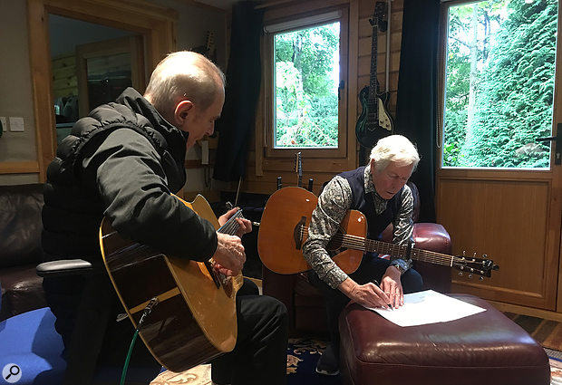 Francis Rossi and Andrew Bown writing for Backbone, which you can hear at https://statusquo.lnk.to/Backbone.