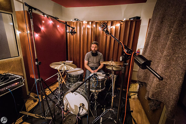 As soon as we'd decided which drum kit we'd use, Icould get the kit ready to record really quickly, thanks to my planning and prep work.
