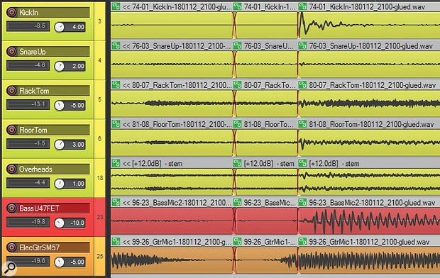 Guitar timing edit in.