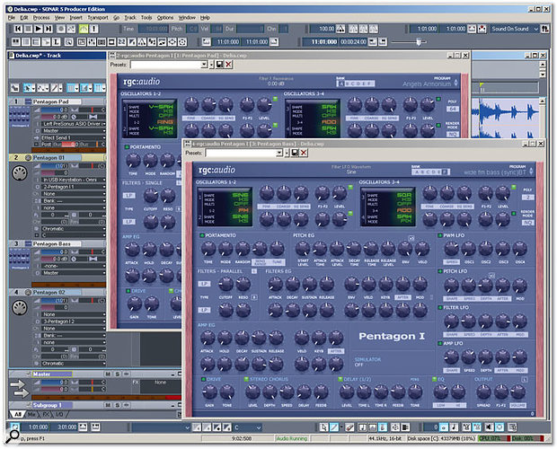 Programming Sonar 5's Pentagon I Soft Synth
