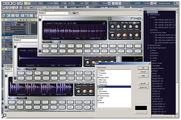 Using the RXP REX-file player in Sonar 5 Producer Edition