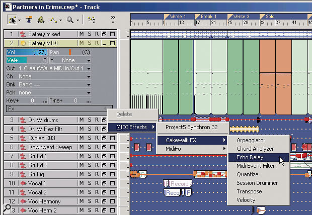There are several ways to open a MIDI plug-in, but the easiest option when you're in the Track View is to right-click on a MIDI track's FX field. This reveals a tree that can access all available MIDI plug-ins.