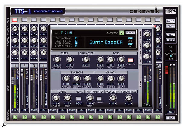 The TTS1 offers far more sound-shaping options for synth sounds than the earlier VSC.