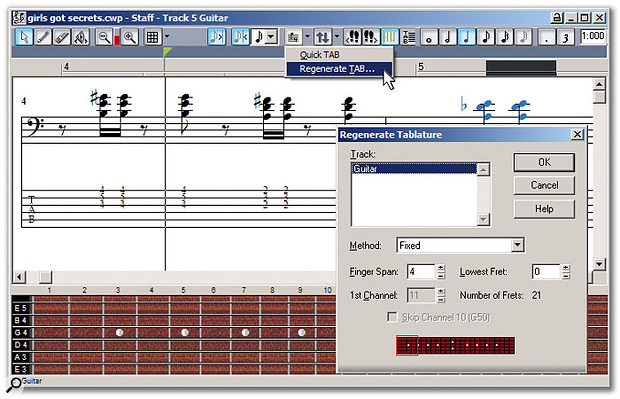Tablature has nothing to do with tablas, but with presenting notation in a guitarist-friendly format.