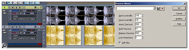 Using Off-Line DSP features of Sonar
