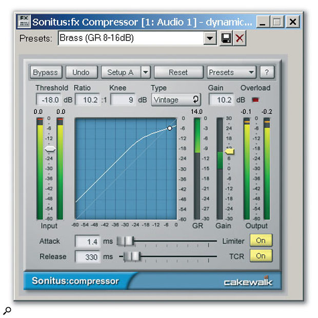 The Sonitus Compressor is a simple, clean compressor with some intriguing extra options.