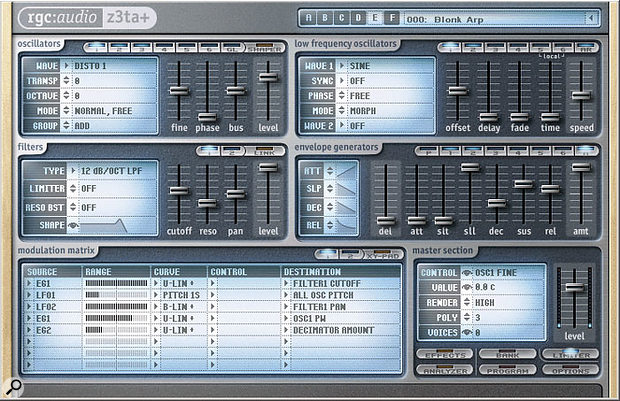 rgc:audio's original version of the Z3TA , a popular download among those seeking new sounds. Cakewalk's version retains the features of the original.
