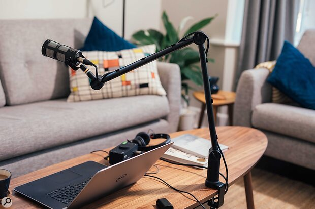 Sontronics Elevate anglepoise desktop microphone stand.