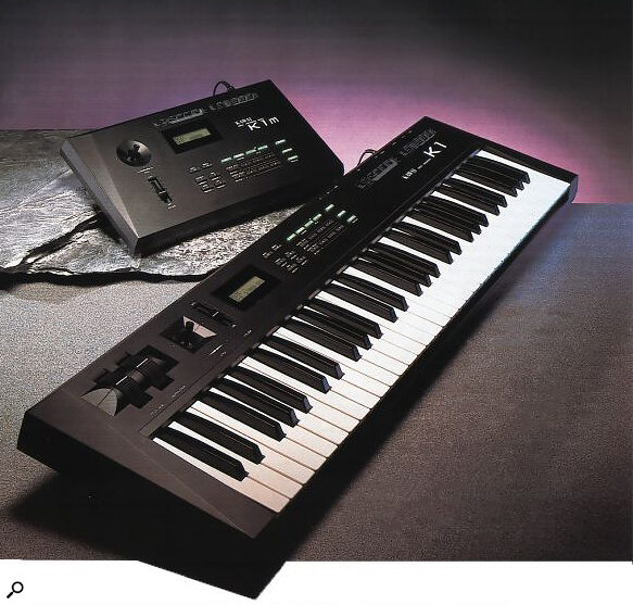 Kawai K1 keyboard synthesizer with K1m sound module (photo from SOS June 1988 article)