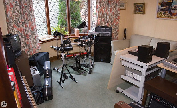 The studio was set up in what was once the family's dining room and, as with so many home studios, acoustics were the prime cause for concern.