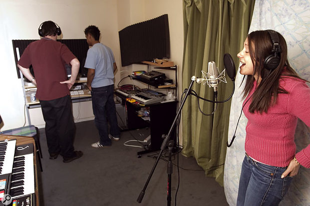 The reorganised studio layout instantly improved the evenness of the bass response, and a quick test vocal take indicated that the vocal sound was also much improved.