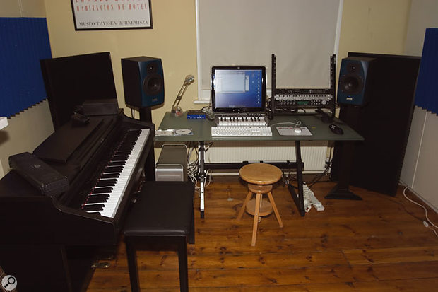 The final studio layout was much less cluttered, partly because the reorganisation of the studio routing had rendered a variety of Bella's hardware redundant.