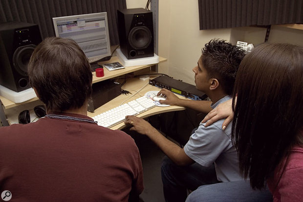 Once the test vocal had been recorded, Paul worked with Jazz and Alessia on refining a usable vocal ambience setting using the built-in plug-ins within Pro Tools LE. This worked so well that no appreciable improvement in quality could be achieved even using a dedicated external Lexicon MPX550 reverb unit.