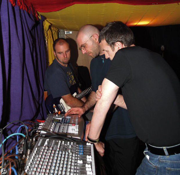 Although the track limitations of the band's Tascam 788 multitracker restricted their recording options to a certain extent, they also weren't using its facilities in the most effective way.