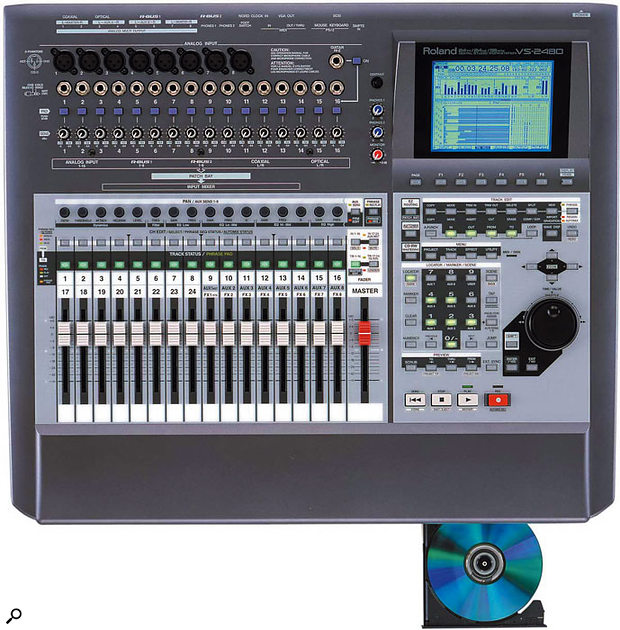 Roland VS2480 multitrack digital recorder (viewed from top).