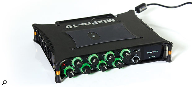 The eight rotary controls, with their striking illuminated surrounds, double up as push-switches. The first group of four always controls channels 1-4, while the second can set the level of channels 5-8 or 9-12.