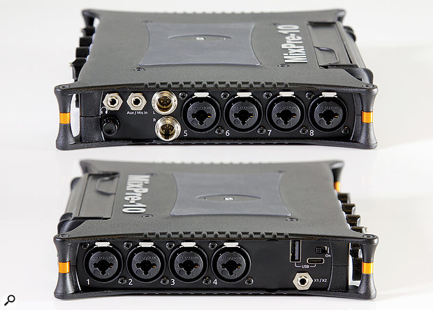 The inputs and outputs are arranged across the two side panels, with the PSU cable emerging in a different direction from a corner. The two mono/stereo outputs can be configured to deliver different signals.