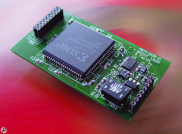 An optional daughterboard adds co-axial S/PDIF connectivity to the Mixtreme 192.
