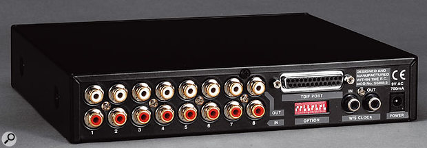 Among the iBox interfaces suitable for connection to the Mixtreme 192 is the iBox 8Line eight-channel A-D converter.