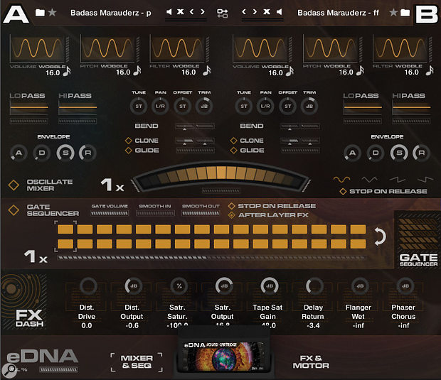 Spitfire's eDNA engine, an extremely powerful and versatile mixing and sound-shaping tool, powers the library's Brunel Loops and Stephenson's Steam Band synth pads and effects. The engine holds two sets of sounds, which can be merged, layered and rhythmically cross-faded back and forth.