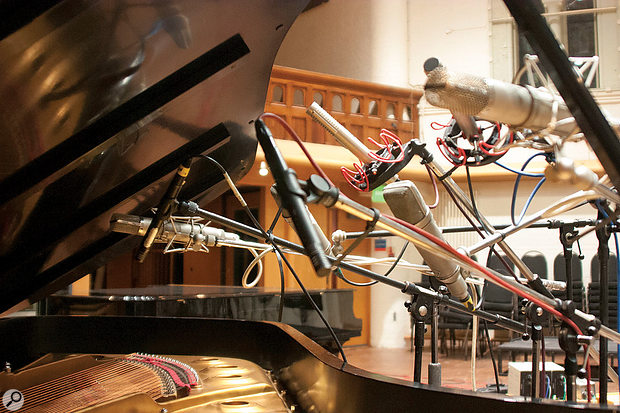 Over 60 microphones were used to record AIR Studios' Steinway D piano.
