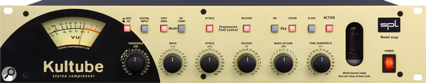 Front panel controls of the SPL Culture stereo compressor.