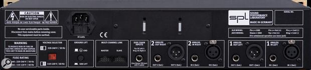 SPL Culture stereo compressor rear panel.