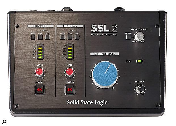 SSL 2 audio interface.