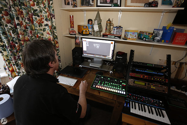 Despite some initial teething problems, Paul managed to set up a working Digital Performer template that would allow the Novation Bass Station to act as a master keyboard for all the other synths.