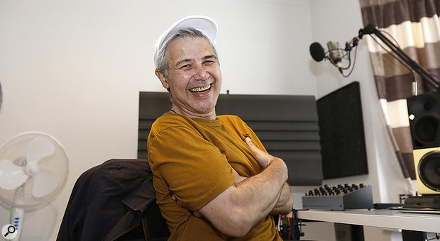 Eddie Bazil in his newly treated studio.