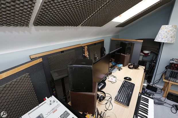 The fact that the desk (and monitors) were pulled some way away from the wall wasn't helping!
