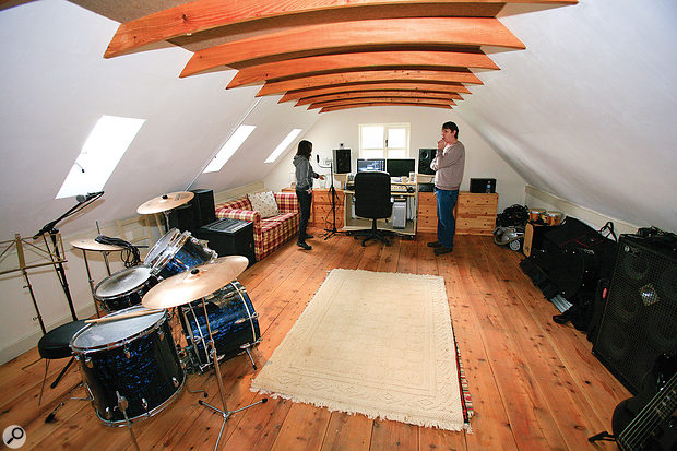 Kate Ockenden's home studio before the visit.