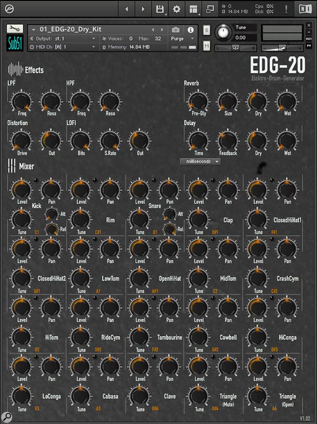 Sub51 EDG-20 sample library.