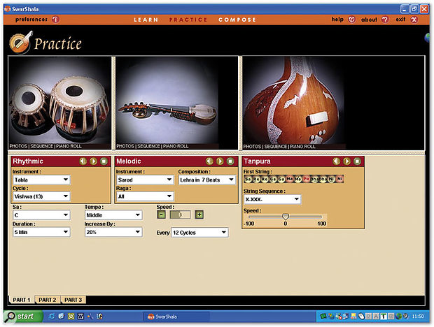 The Practice pane sets up a virtual Indian group for you.