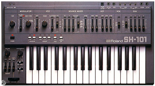 Figure 1: Top panel of a Roland SH101.