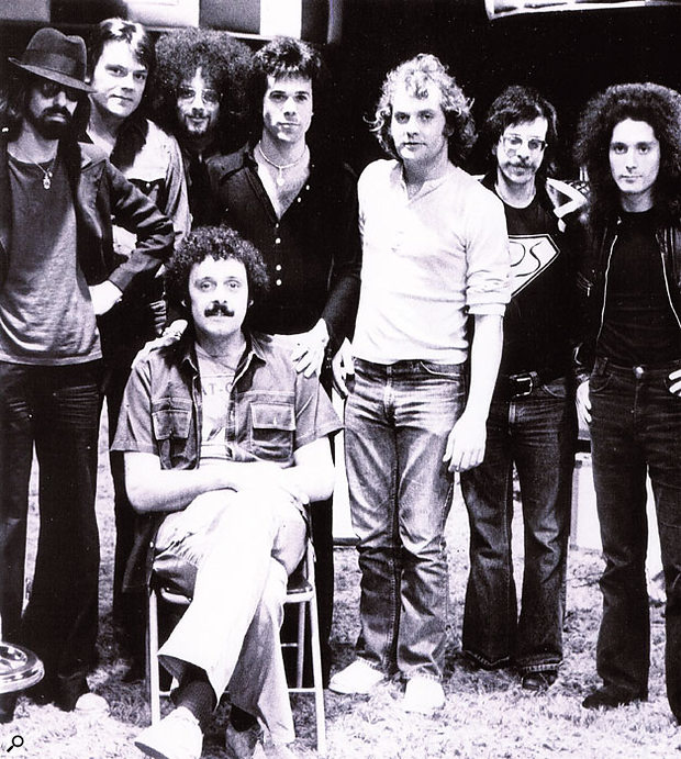 Bill Szymczyk (seated) with the J Geils Band, for whom he would produce several hit albums.