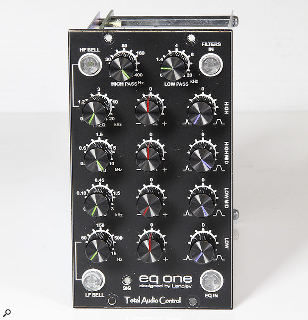 The EQ One features four bands of bell EQ, two of which double up as shelves, as well as both high and low pass filters.