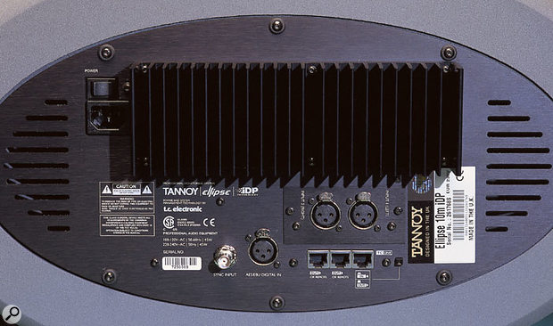 The rear panel of the standard Ellipse 10 IDP carries two channels of analogue and digital input. These audio signals are distributed around the system via the TC Link networking connections.