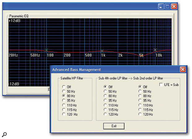 Here you can see some of the advanced setup parameters available with the bundled Ellipse PC-IP software utility.