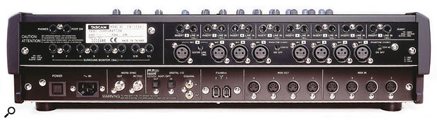 Phantom power for the FW1884's eight mic preamps is switched in two banks of four.