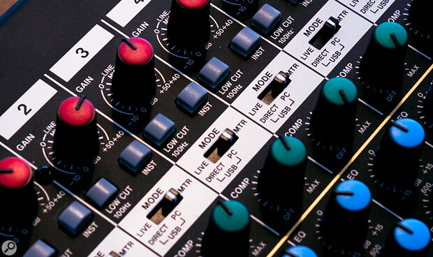 All the main channels have high‑impedance instrument inputs.