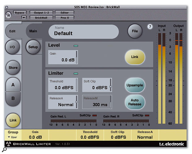 Brickwall Limiter is capable of detecting and flattening out inter-sample peaks in the signal.