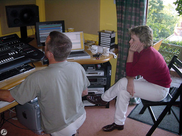 Producer Kath Moore joined David in the studio to provide instant feedback on the direction of the theme.