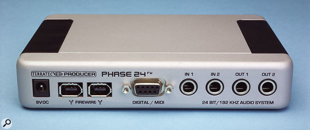 Unlike its larger brother, the Phase 24 FW can be powered from the Firewire buss.