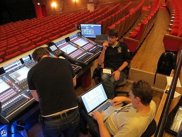 The complexity of modern musicals means that each show will usually require a  small team of sound engineers.