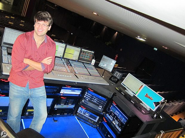 Gareth at the mixing position for a showing of Sister Act in Milan.